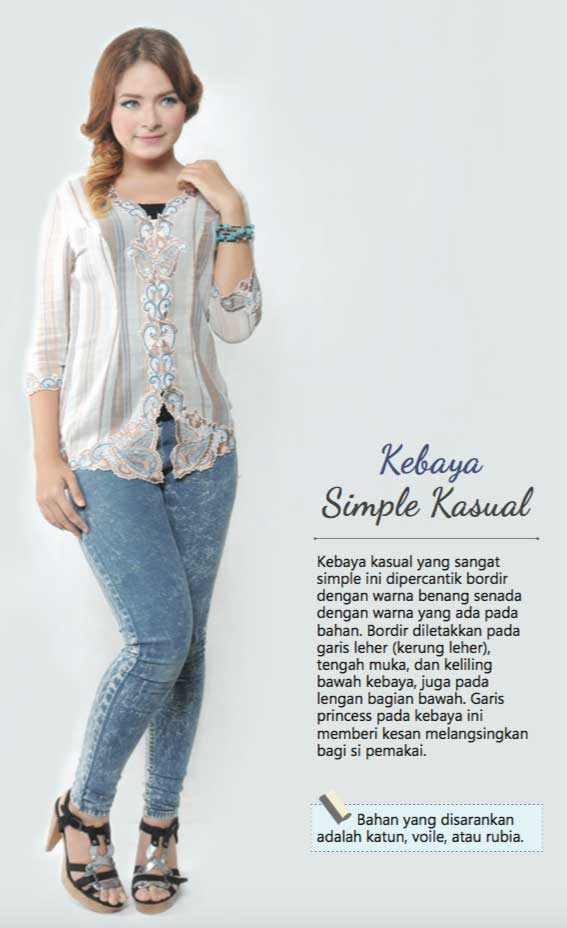 kebaya simple kasual