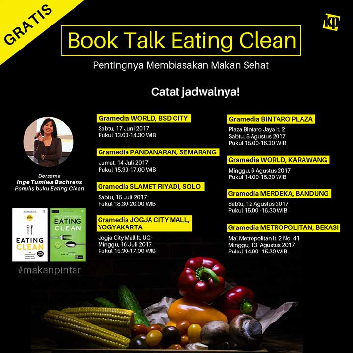 jadwal talkshow revisi book talk eating clean
