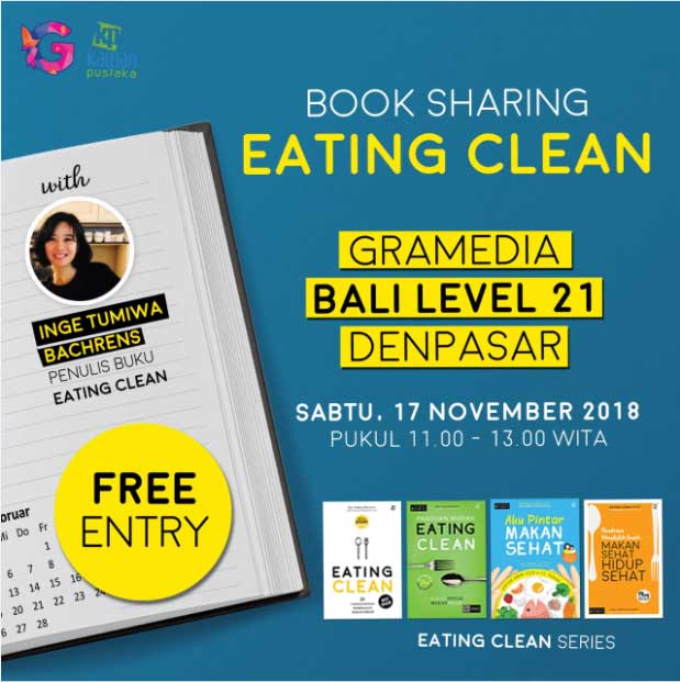 book sharing eating clean bali